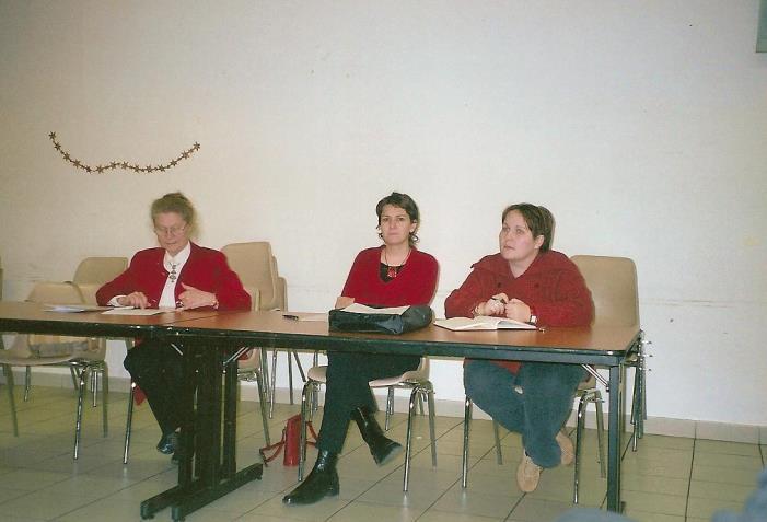 Rhone-Roumanie: Assemblée générale en 2005: Claude Chauvin, Catherine Balint, C.Vialle