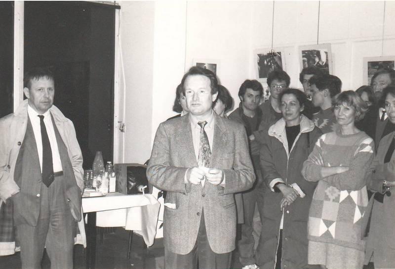 premier événement organisé par la future Association Rhône-Roumanie: L'exposition photo de I. Andron à l'INSA de Lyon