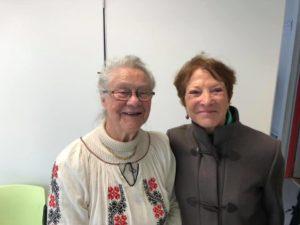 Mme Claude Chauvin et Mme Genevieve Hector, les fondatrices de l'Association Rhone-Roumanie